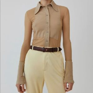 【NEW!】Acne Studios shirt in beige size xs
